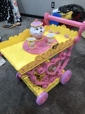 Beauty and the beast tea cart for Sale in Barnhart, MO