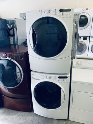Nice and clean, Kenmore elite washer and dryer set, with warranty and free delivery for Sale in Lewisville, TX