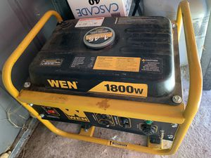 1800 w power generator for Sale in Sanger, CA