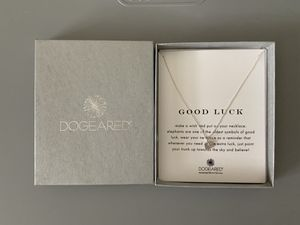 Dogeared good luck elephant necklace, sterling silver for Sale in Houston, TX