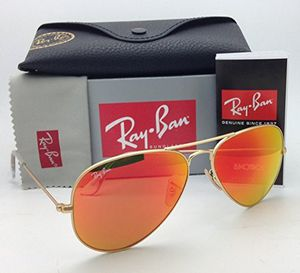 Gold aviator Ray bans with mirror lens for Sale in Grosse Pointe, MI