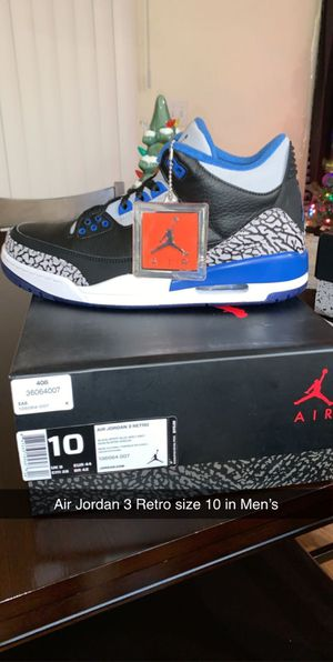 Air Jordan 3 Retro Men's 10 for Sale in Denver, CO