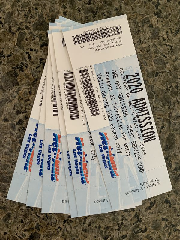 Wet n Wild Day Passes - (4 left $12 each) SW at Buffalo and Blue Diamond