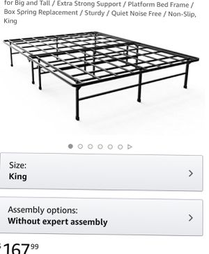 ZINUS 14in California King bedframe/ boxspring for Sale in Strongsville, OH