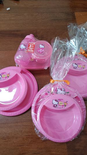 Hello Kitty lovers kids feeding sets for Sale in Miami, FL