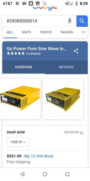Rv/boat 1500W power inverter for Sale in Bremerton, WA