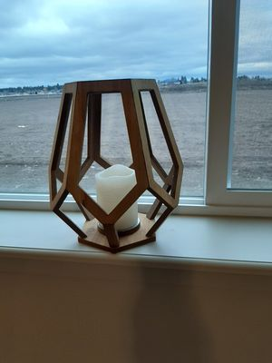 Wooden Geometric candle holder for Sale in Post Falls, ID