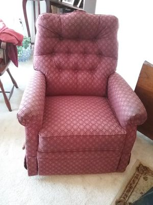 Burgundy Reclining Chair for Sale in Roanoke, VA