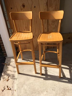Pair of wooden bar stools for Sale in Springfield, VA