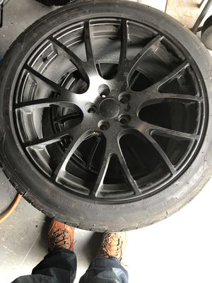 "Pair of black Dodge challenger 20""rims and tires for Sale in Miramar, FL"