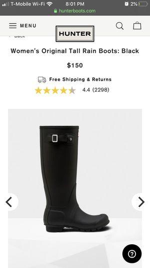 Hunter original tall rain boots for Sale in Richmond, CA