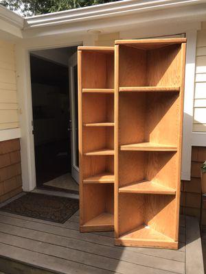 Two Oak Corner shelves for Sale in Redmond, WA