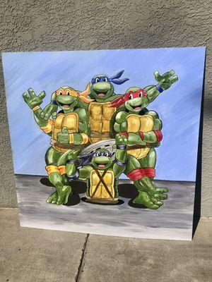 Teenage Mutant Ninja Turtles Acrylic Painting for Sale in Los Angeles, CA