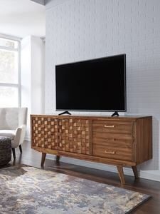 Chiladda Warm Brown Extra Large TV Stand | W673-68 for Sale in Austin, TX