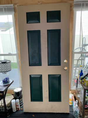 Steel front door, white interior for Sale in Frederick, MD