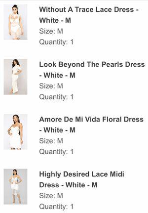 *NWT* FashionNova white dresses medium for Sale in NO POTOMAC, MD