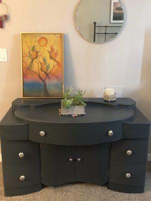 Dark grey Art Deco style console/vanity for Sale in San Diego, CA