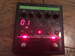 TC Helicon Voicetone Vocal Double Doubler Effect Pedal for Sale in Houston, TX