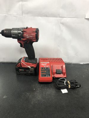 """Milwaukee 2806-20 1/2"""" hammer drill driver with m18 xc 5.0 battery and charger and with one-key for Sale in Hollywood, FL"""