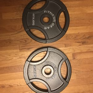 45 Pound Plates for Sale in Franklin, MA