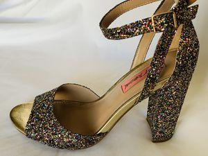 Betsy Johnson Glitter Heels 8 for Sale in Hemet, CA