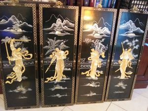 Stunning 4 panel Japanese art work bought in Hawaii for Sale in Pinellas Park, FL