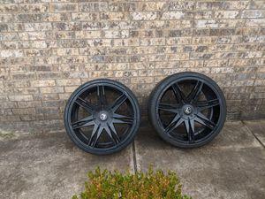 """22"""" black rims for Sale in Dallas, TX"""