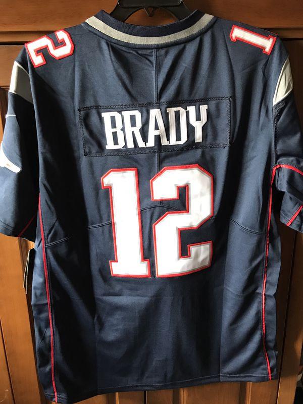 Brady Patriots jerseys white blue