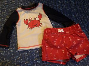 Cat & Jack 6-9 month swim trunks and rash guard for Sale in Manteca, CA
