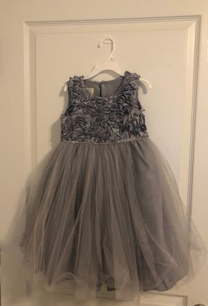 Silver dress size 4 toddler for Sale in Virginia Beach, VA