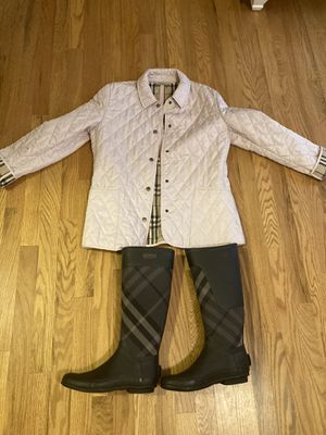 Burberry boots and jacket for Sale in Greenville, SC