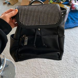 Black Leather Backpack With Rhitestones Steve Madden for Sale in Federal Way, WA