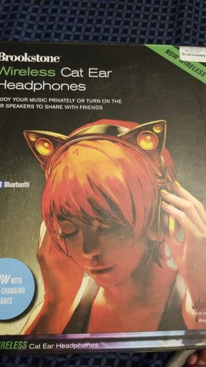 Brookstone wireless cat ear headphones for Sale in Athens, NY