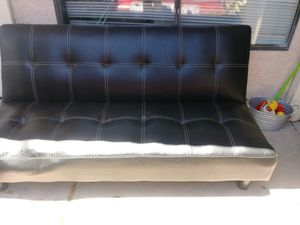 Leather futon sofa for Sale in Mesa, AZ