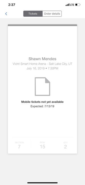 Shawn Mendes Tickets for Sale in Salt Lake City, UT