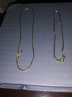Two 10kt gold bracelets for Sale in Enfield, CT
