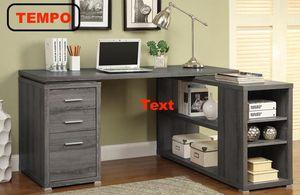 L-Shaped Office Desk, Grey for Sale in Norwalk, CA