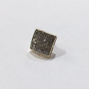 14K Yellow Gold Unisex Diamond Square Cluster Earring (Single) with approx. 2.42cttw Diamonds 86974-1 for Sale in Tampa, FL