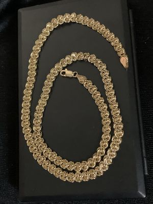 "Vintage Woven Real 14K Yellow Gold Chain Necklace 5.5mm 18.5"" for Sale in Mountain View, CA"