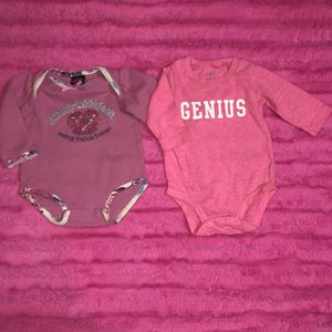 2 pink size 3-6 month onesies. Carter's and Harley Davidson for Sale in Saint Albans, WV