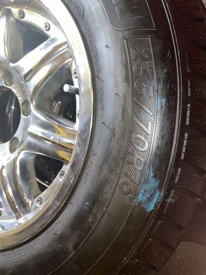 Dodge rims on 235 / 70 r16's 80% good for Sale in Stockton, CA