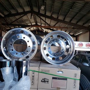 New wheels 22.5 water reservoir tanks tires air bags a/c condensers chambers starters repair for big rigs and auto for Sale in Stockton, CA