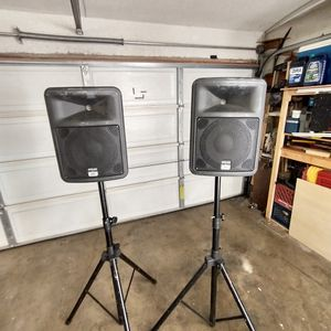 PR10 Speakers and stands for $150 Or OBO for Sale in Tustin, CA