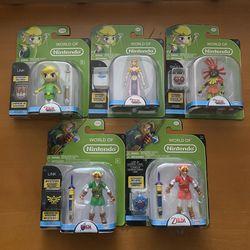 World of Nintendo Jakks Zelda Link Set 5pc Lot for Sale in North Arlington,  NJ