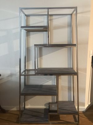 Silver display shelves from wayfair for Sale in Denver, CO