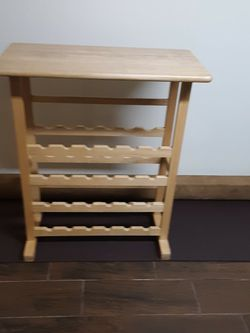 BAR DINING COUNTER TOP TABLE WITH WINE STORAGE for Sale in Queens,  NY