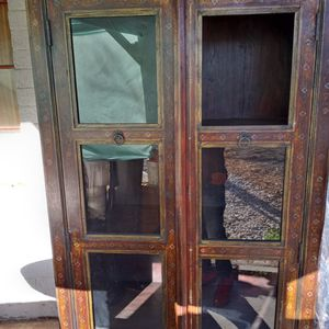 Old Antique Hand Painted China Cabinet for Sale in Laveen Village, AZ