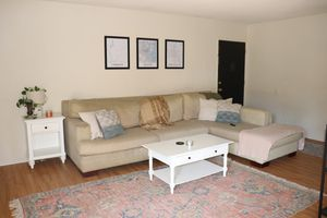Large linen sectional couch for Sale in Culver City, CA