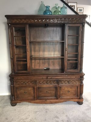 Ashley Furniture credenza and hutch for Sale in Gilbert, AZ