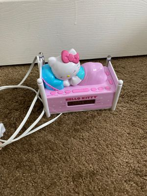 Hello kitty alarm clock and radio for Sale in Miami, FL
